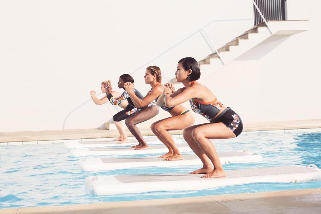 water yoga team
